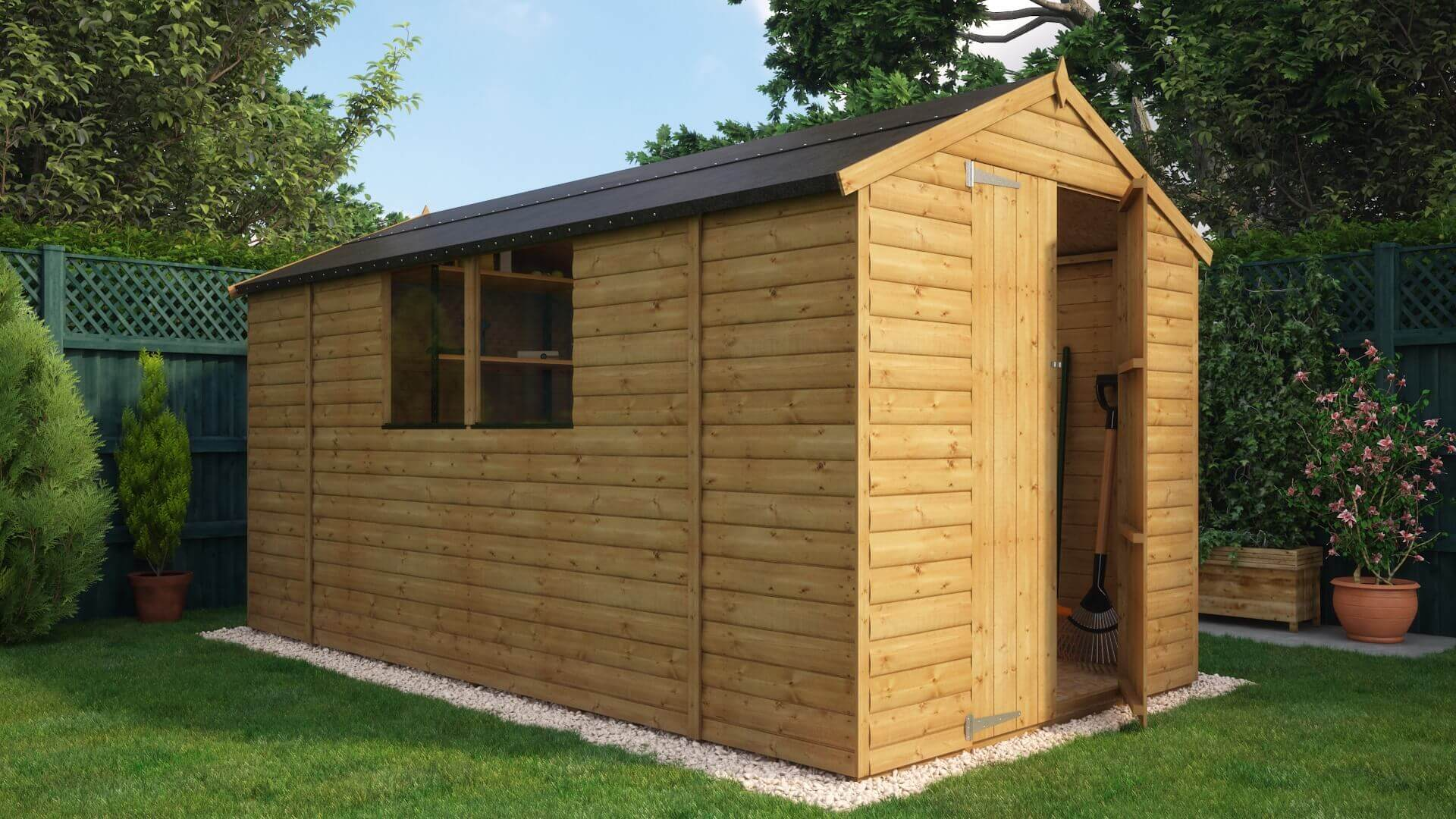 Ft X Ft Loglap Windowed Garden Shed Archives Project Timber - Difference between log lap sheds and ship lap sheds