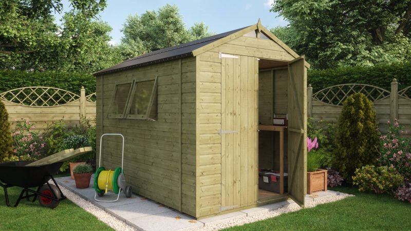 Pressure Treated Hobbyist Tall Garden Shed