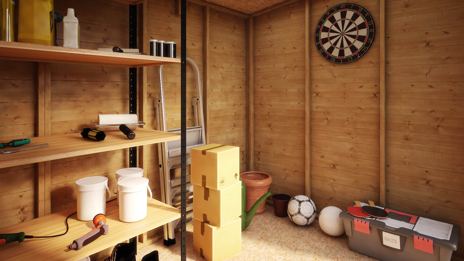 ... Front View; Internal View & Pent Offset Door Garden Shed | Project Timber