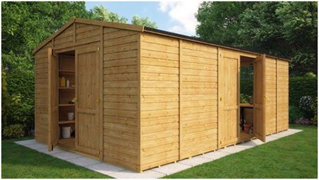 Traditional Windowless 2 Doors Grandmaster Workshop Shed