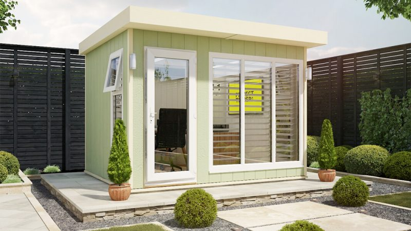 10ft x 8ft evolution garden office shed