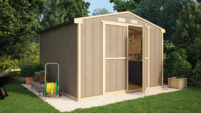 the truman composite windowless garden shed - Garden Sheds 6 X 10