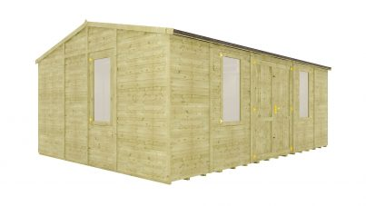 20 x 14 Wooden Garden Sheds | Project Timber | Free UK Delivery