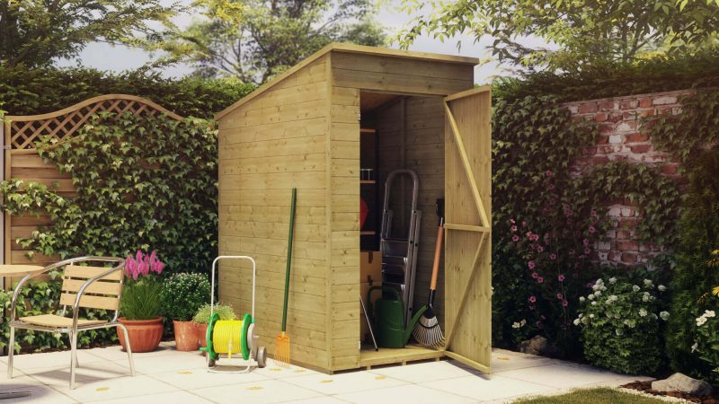 4 x 5 Pressure Treated Pent Storage Shed