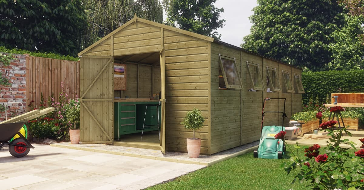 Modular Hobbyist Apex garden sheds