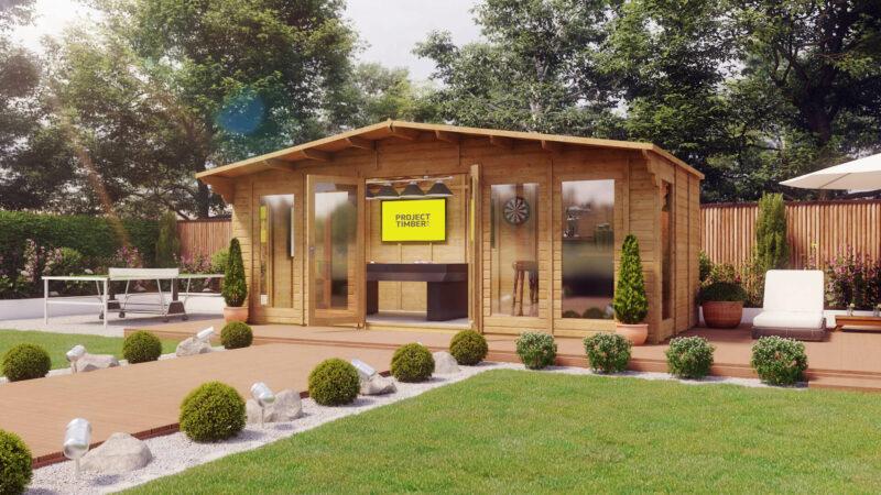 20x9 Alpine Grandmaster Long Window Summerhouse Cabin