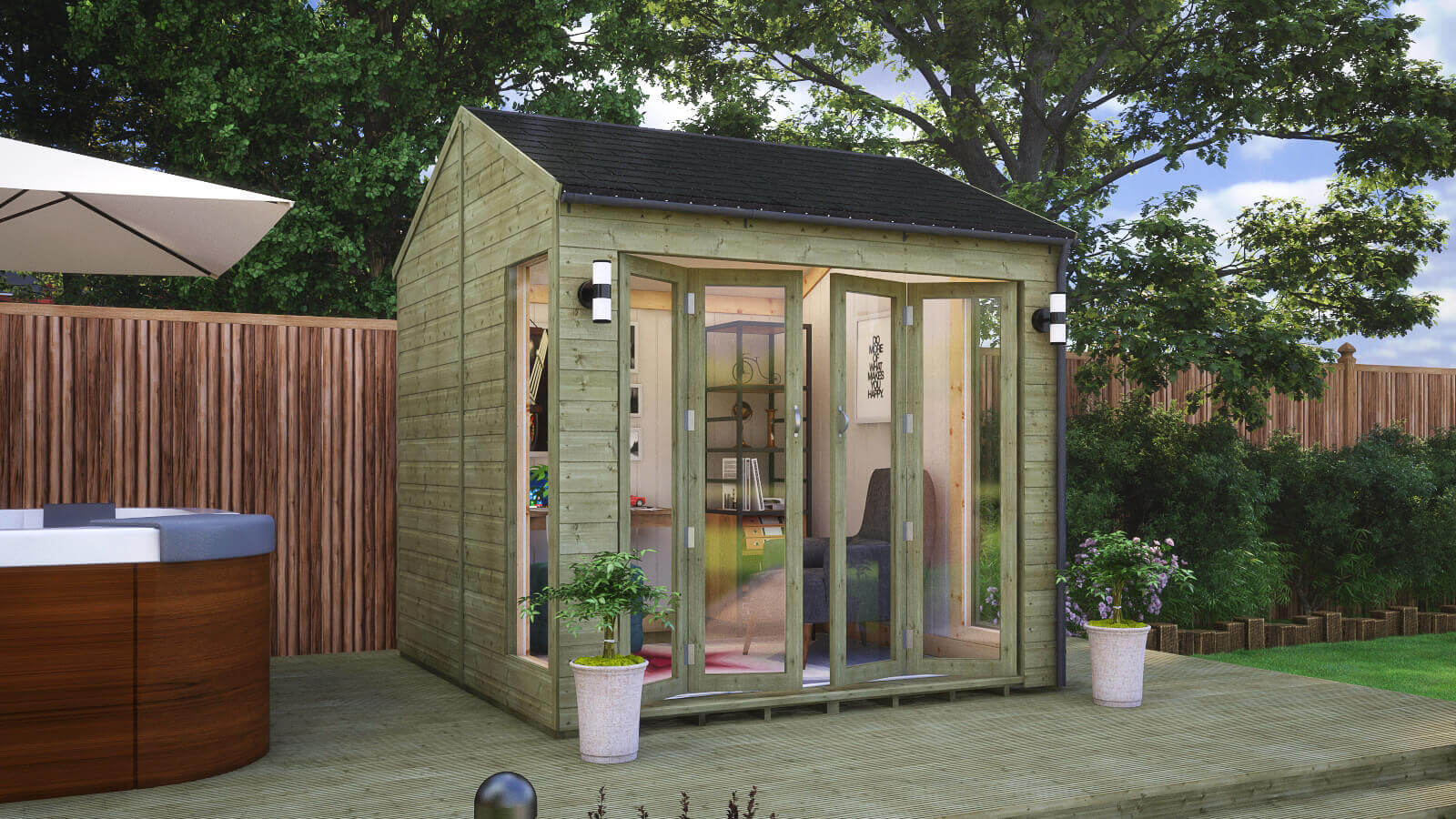 Pressure Treated Insulated Cannes Summerhouse