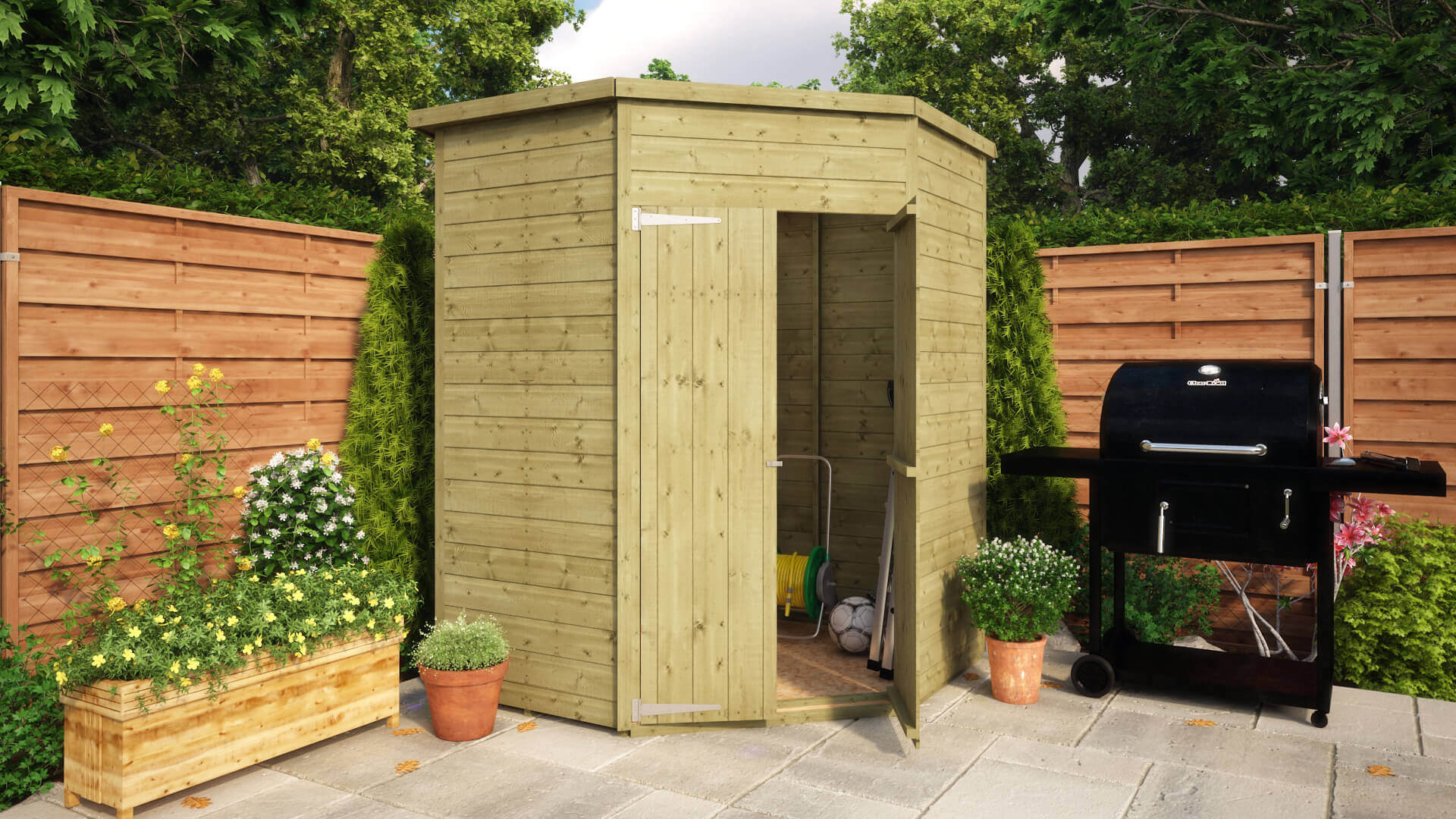 Corner Shed Shiplap 5x5 Windowless Ss Roof And Floor 01 2 1