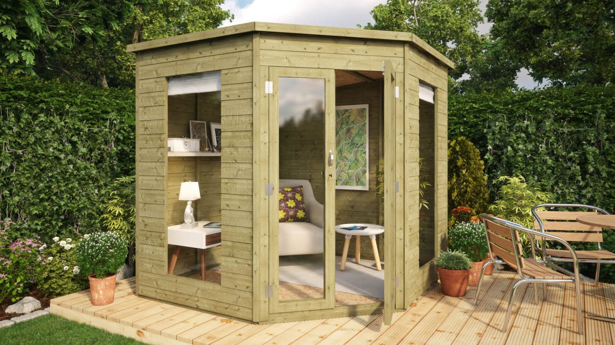 Pressure Treated Corner Summerhouse
