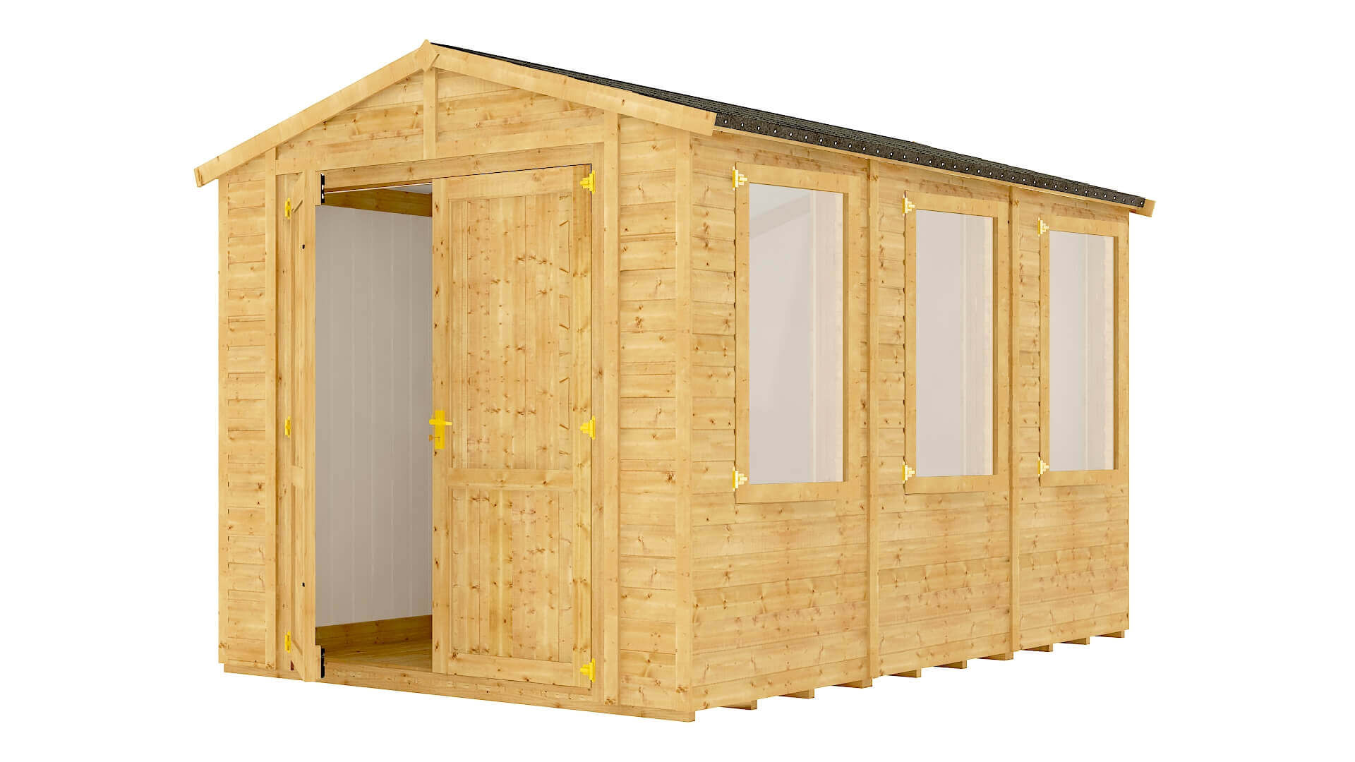Traditional Windowed Apex Insulated Grandmaster Workshop Shed
