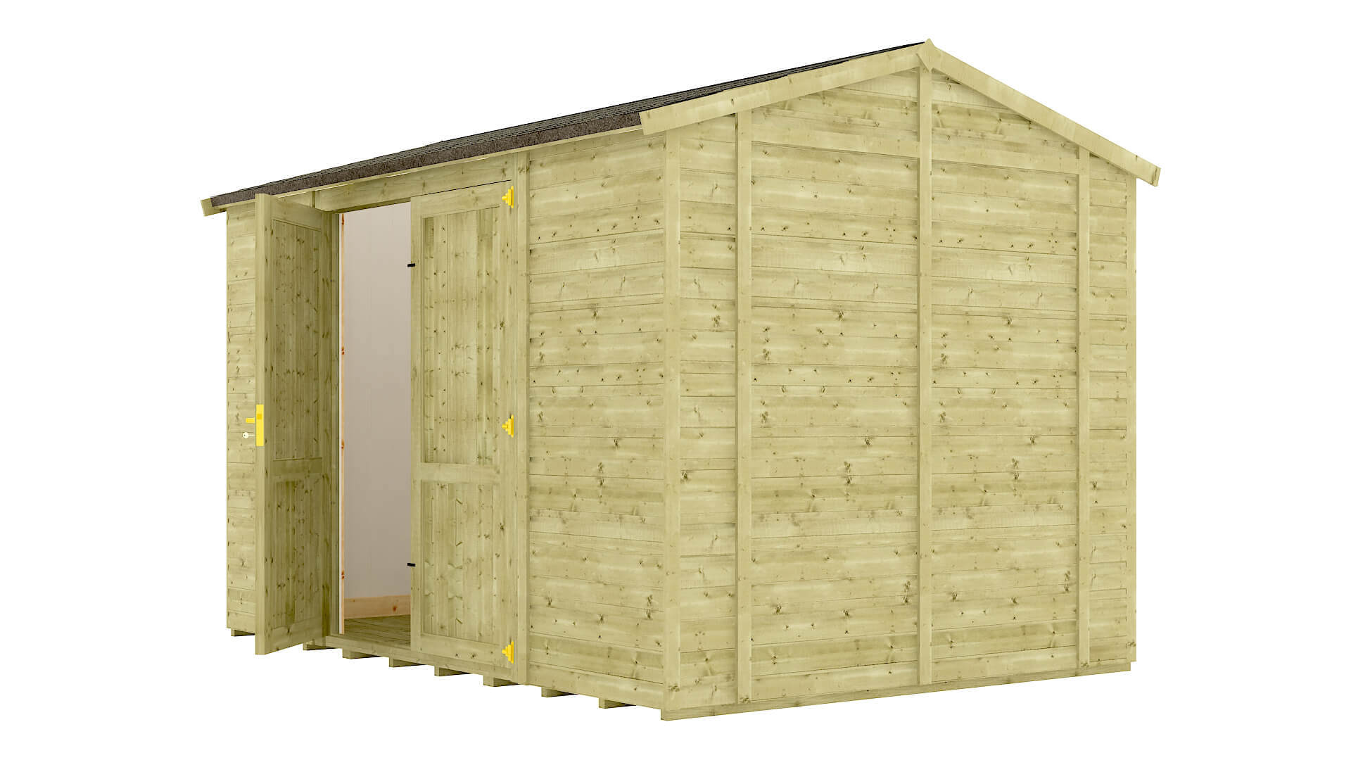 Pressure Treated Traditional Windowless Insulated Grandmaster Workshop Shed
