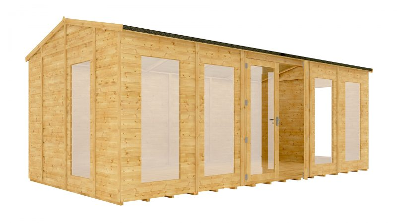 20ft x 10ft diplomat long window grandmaster summerhouse shed