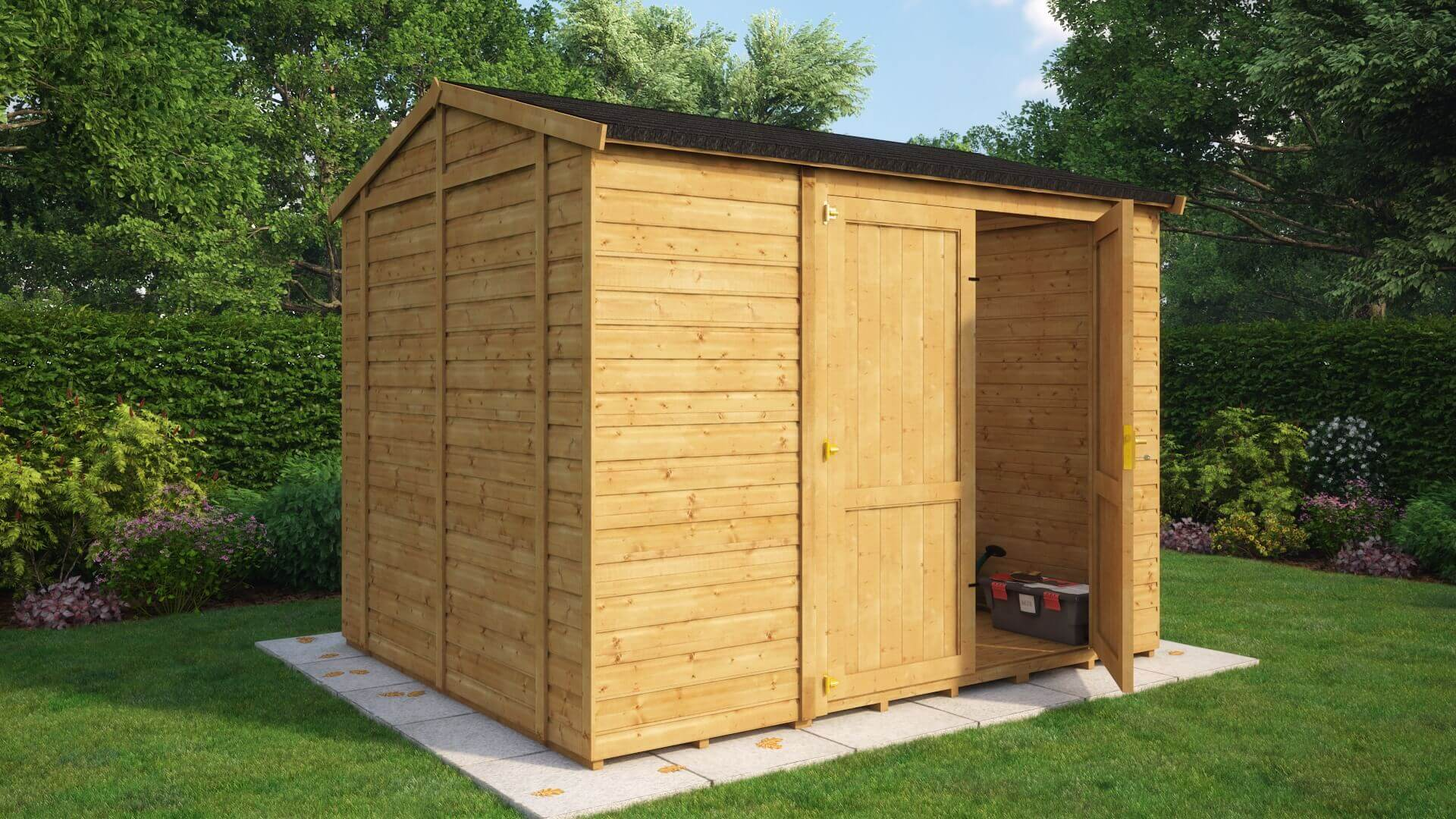 Traditional Windowless Offset Grandmaster Workshop Shed