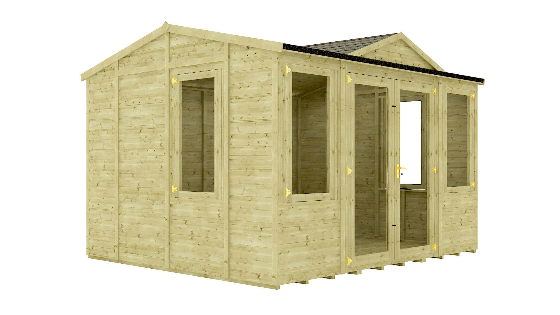 Pressure Treated Diplomat Grandmaster Summerhouse With Dorma