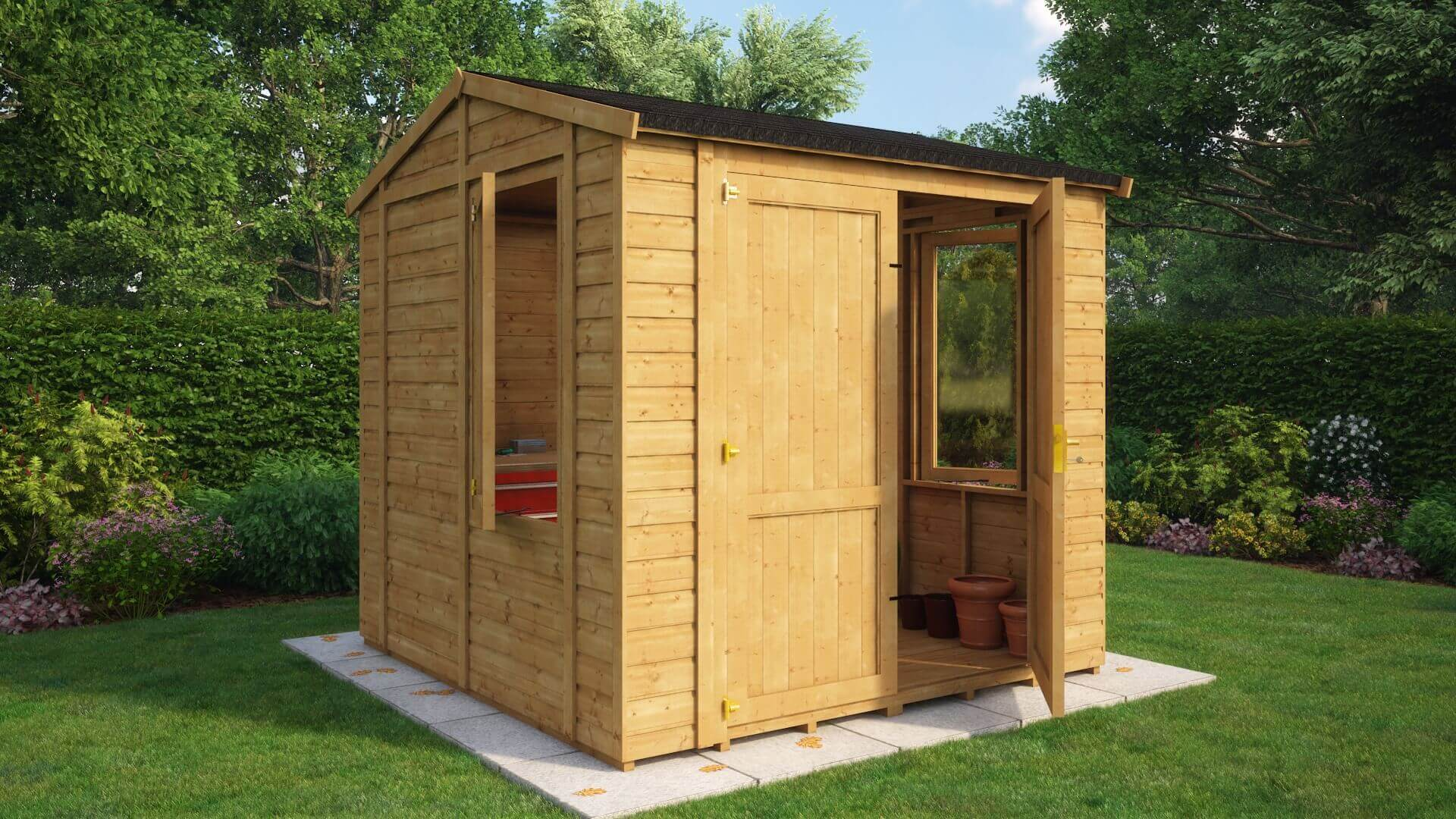Traditional Windowed Insulated Grandmaster Workshop Shed