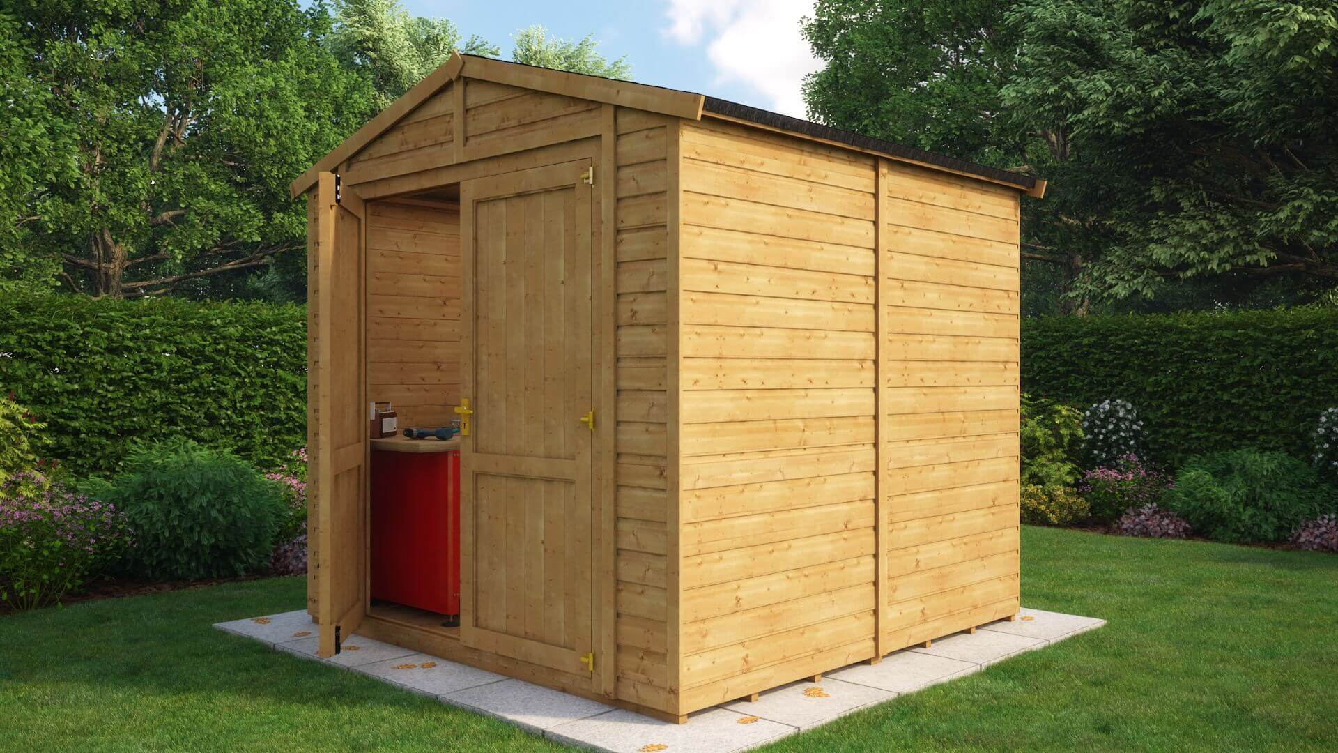 Traditional Windowless Apex Grandmaster Workshop Shed