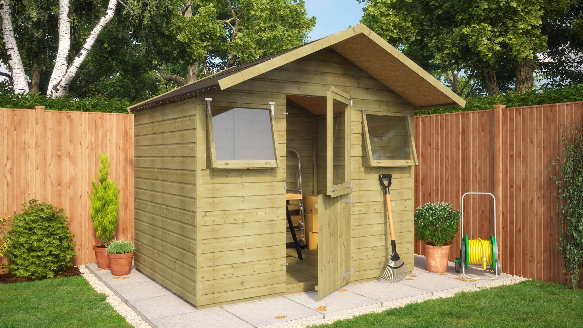 Pressure Treated Grasmere Garden Shed