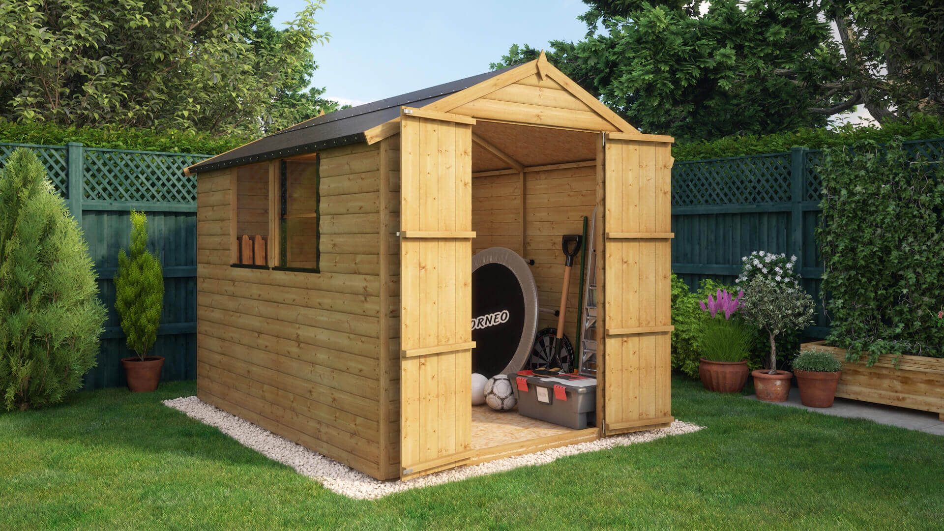 Loglap Windowed Garden Shed