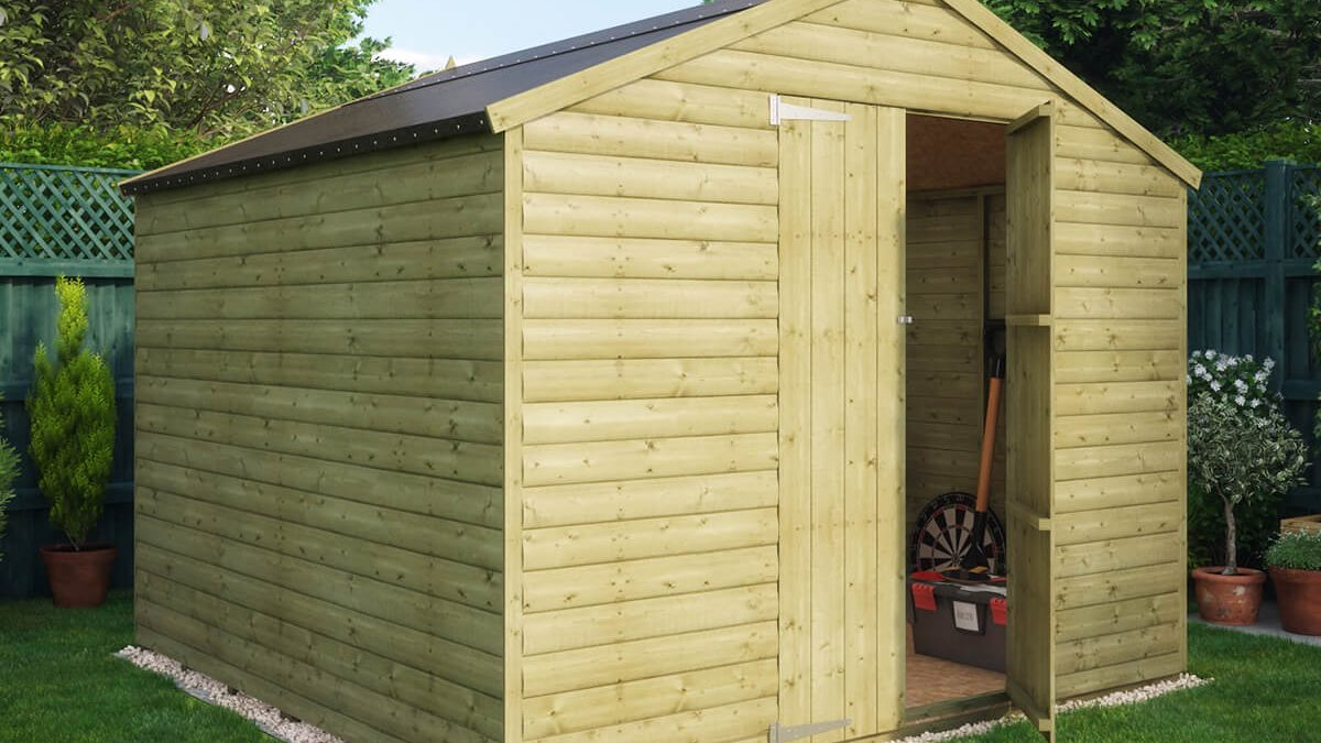 Pressure Treated Loglap Windowless Garden Shed