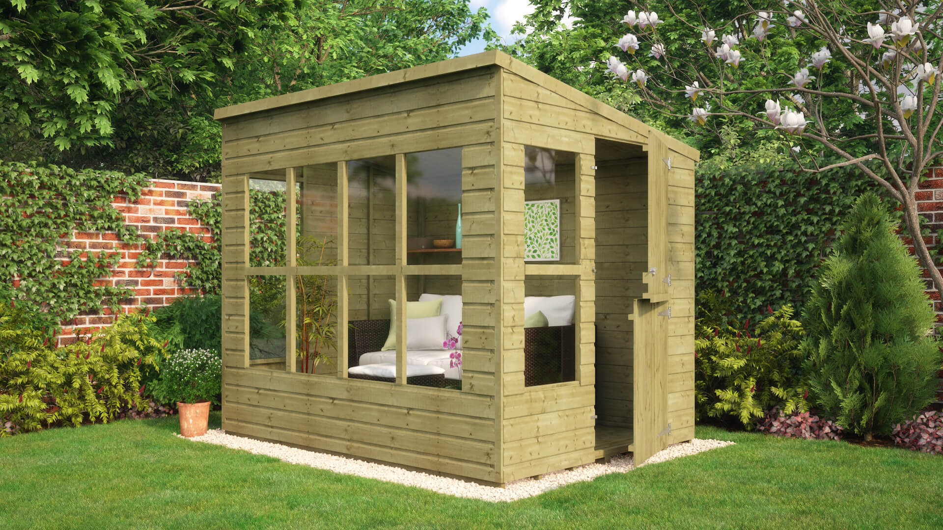 Pressure Treated Suntrap Summerhouse