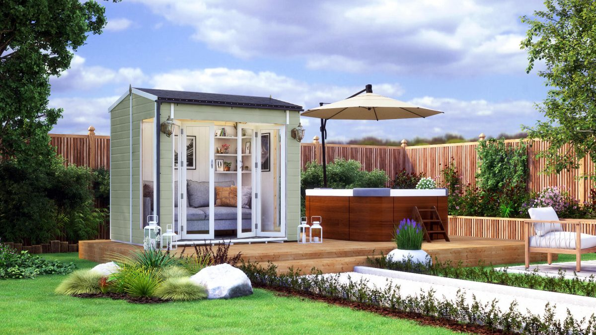 8ft x 6ft pressure treated modular cannes summerhouse