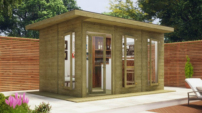 14ft x 10ft pressure treated lounge contemporary summerhouse
