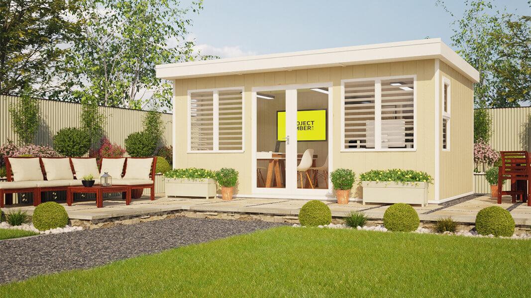 16ft x 10ft evolution high window garden office pent garden room