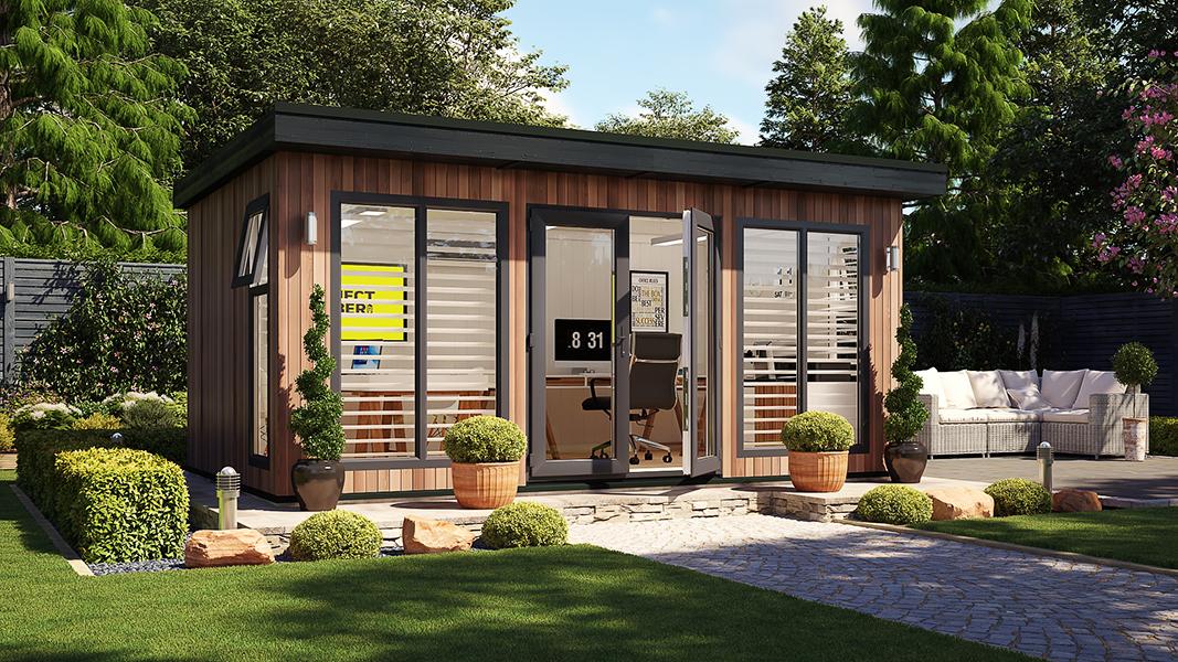 16ft x 10ft evolution cedar garden office shed