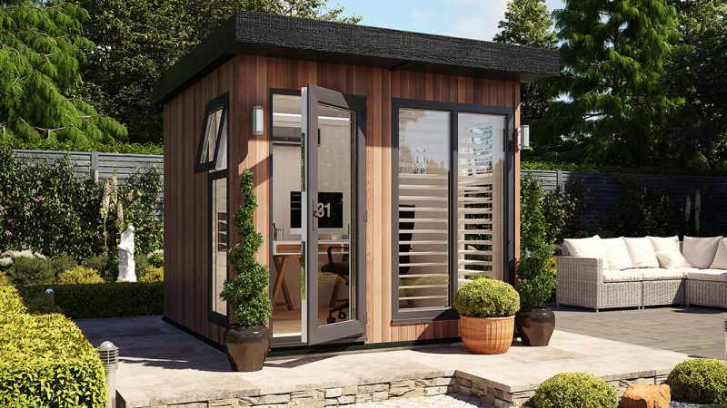 8ft x 8ft evolution cedar garden office shed