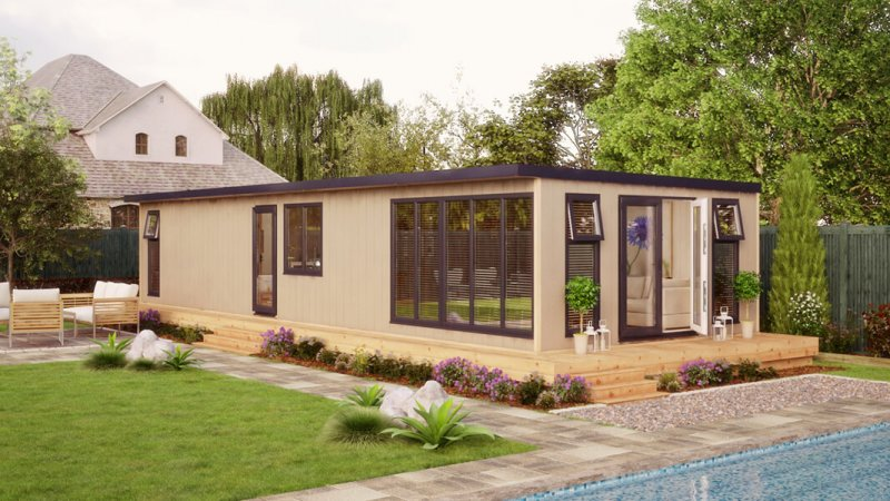 40ft x 14ft evolution residential garden room