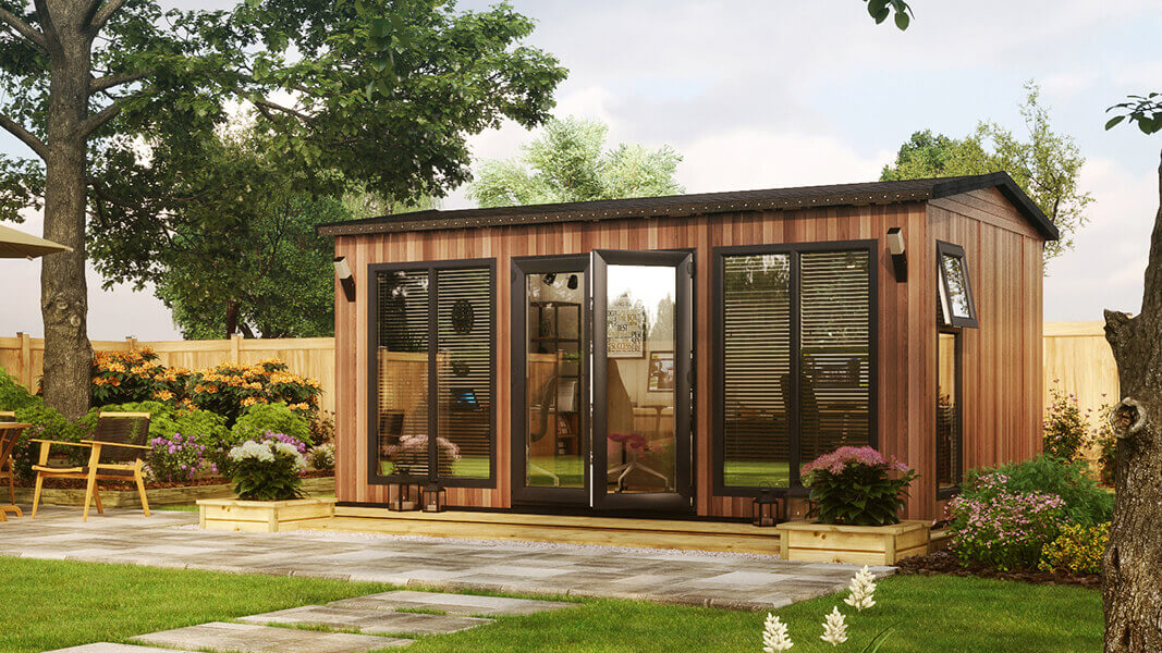 16ft x 10ft evolution apex cedar insulated garden room