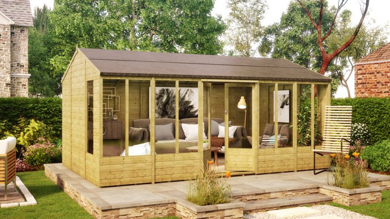 16ft x 10ft hobbyist summerhouse windowed shed