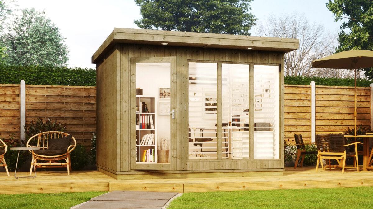 10ft x 8ft evolution garden office in a box
