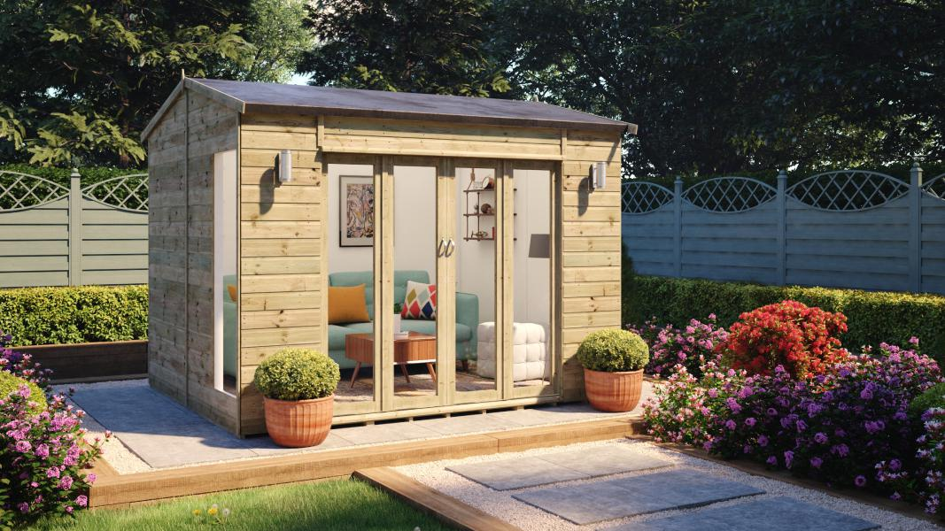 10 x 8 insulated cannes summerhouse