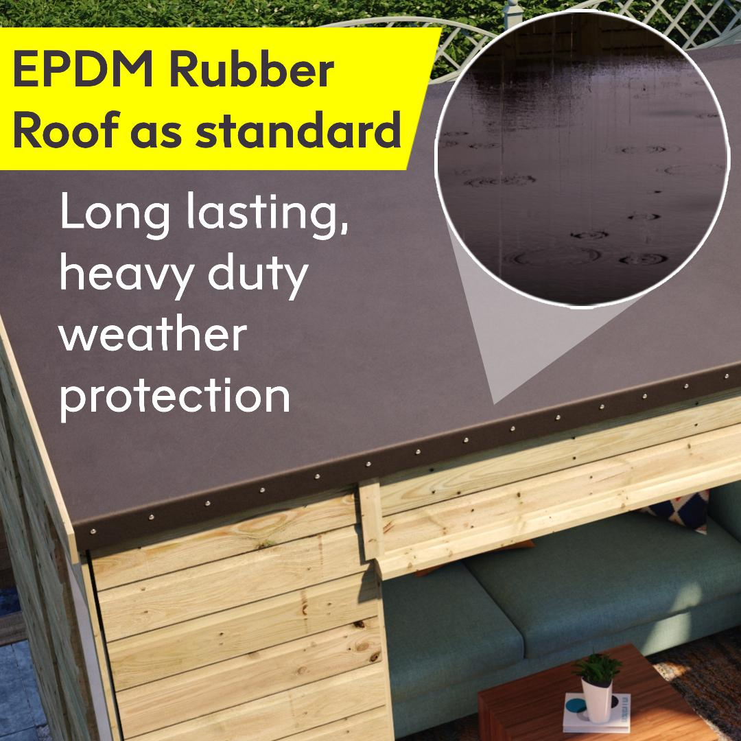 rubber roof included