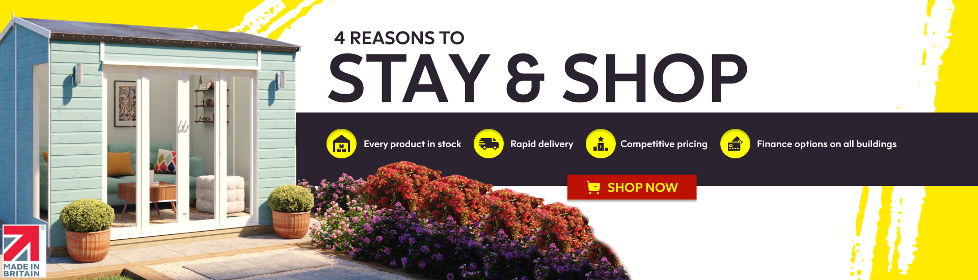 4 reason to stay and shop
