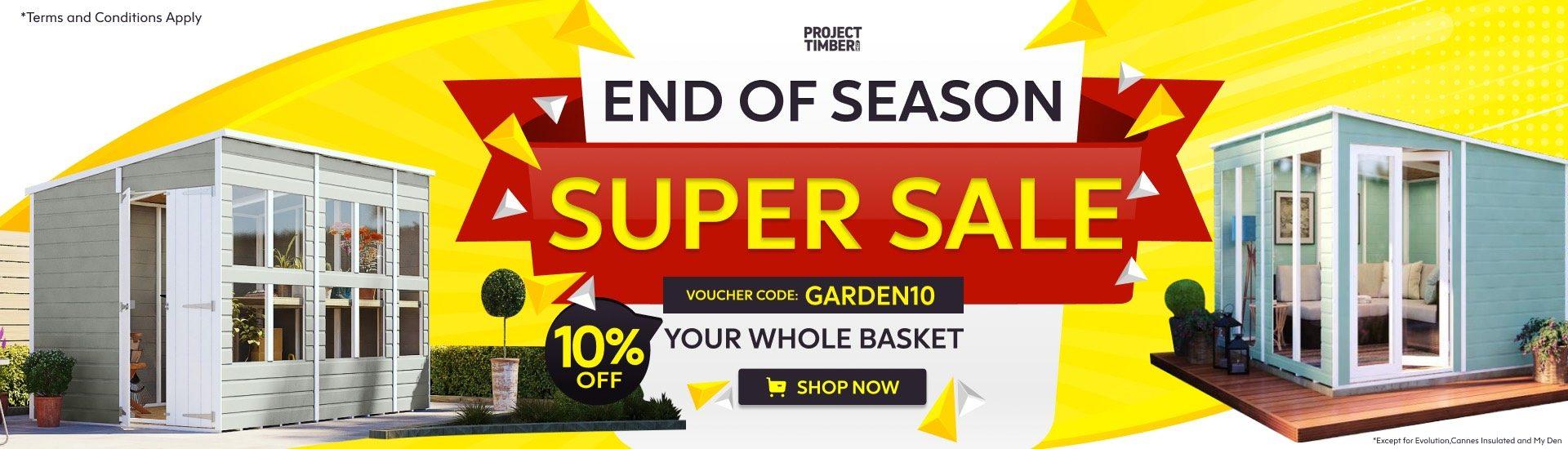 garden10 super sale promo banner
